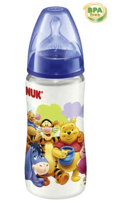 NUK 300 ml Polypropylen-Flasche First Choice Winnie Pooh blau - большое изображение