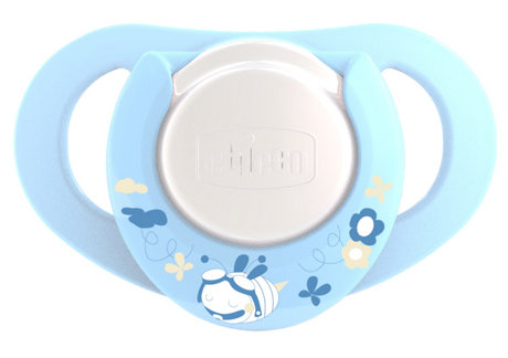 Chicco Physio Soother with Ring, Boy, Latex 2 PCS 2012 - большое изображение