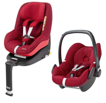 Maxi-Cosi infant carrier Pebble incl. 2WayPearl+2Way Fix Base Robin Red 2017 - большое изображение