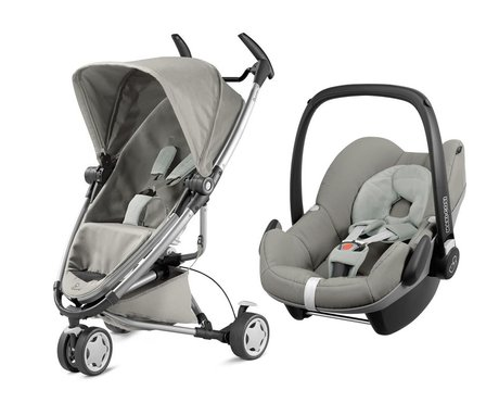 Quinny Zapp Xtra 2.0 incl. Maxi-Cosi infant carrier Pebble Grey Gravel 2016 - большое изображение